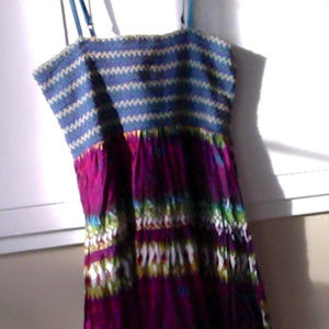 Poetry colorful Sundress spaghetti straps